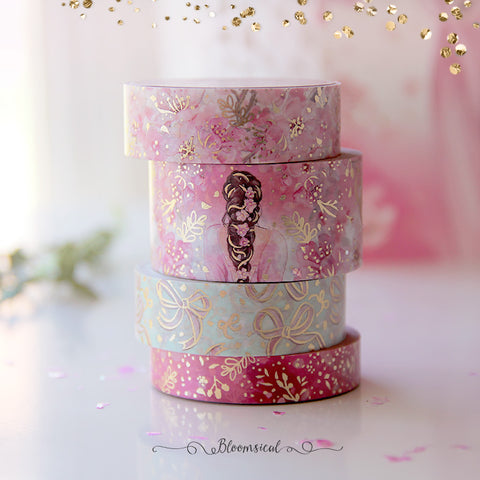 Cherry Blossom Washi Tape Collection Gold Foil