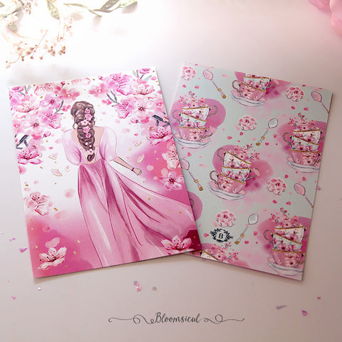 Cherry Blossom Journaling Card