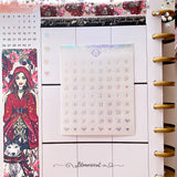 Clear Foiled Date Dots Sticker Sheet