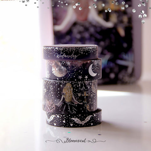 Enchanted Night Washi Tape Collection Confetti Holo Foil