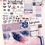 Enchanted Night Deluxe Foiled Standard Vertical Weekly Sticker Kit by Joyful Planner