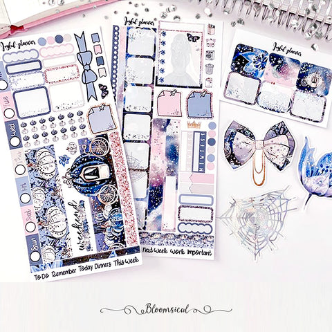Enchanted Night Deluxe Foiled Hobonichi Weeks Sticker Kit by Joyful Planner
