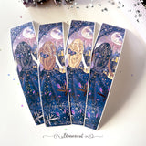 Enchanted Night Tall Sidebar Sticker  - Silver Foil Accents
