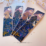 Enchanted Night Tall Sidebar Sticker  - GOLD Foil Accents