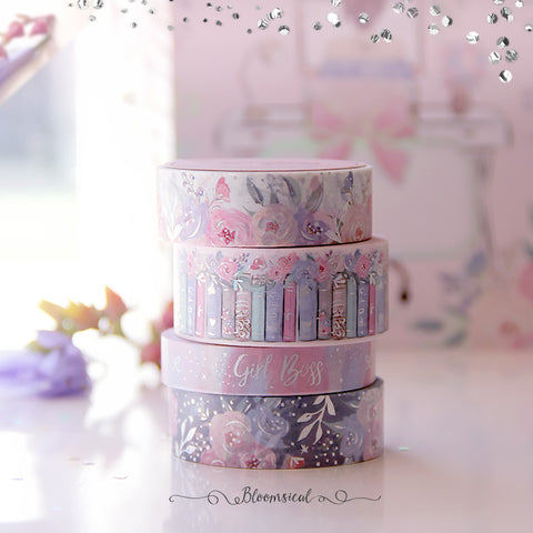 Girl Boss Washi Tape Collection Silver Holo Foil