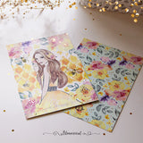 Honey Bee Journaling Card Gold Foil