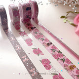 Love Story Washi Tape Collection Silver Foil