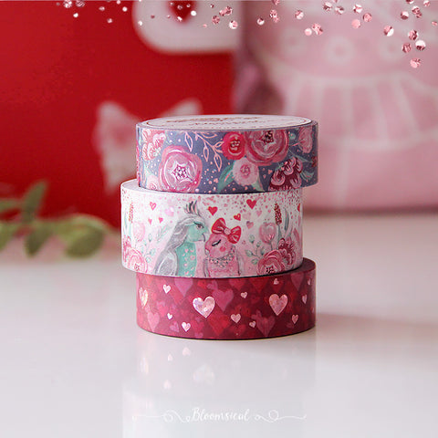 Love Birds Washi Tape Collection Pink HoloFoil