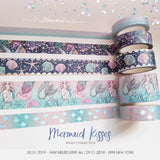 Starfish & Shells Washi Tape 20mm wide with Silver Holographic Foil