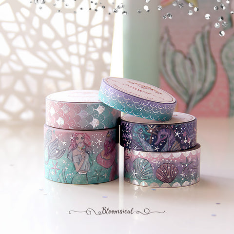 Mermaid Kisses V2 Washi Tape Collection Holo Stars Foil