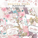 Woodland | Mommy & Me Digital Cliparts, Papers, Bow Clips BUNDLE DEAL