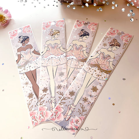The Nutcracker Sidebar Sticker  - Silver Foil Accents