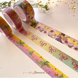 Rainbow Fairies Washi Tape Collection Gold / Gold Confetti Foil Set of 3 + 1 FREE