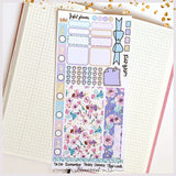 Rainbow Fairies Deluxe Foiled Hobonichi Weeks Sticker Kit by Joyful Planner