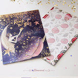 OOPS Reach For The Stars Journaling Card with Gold Foil Accents