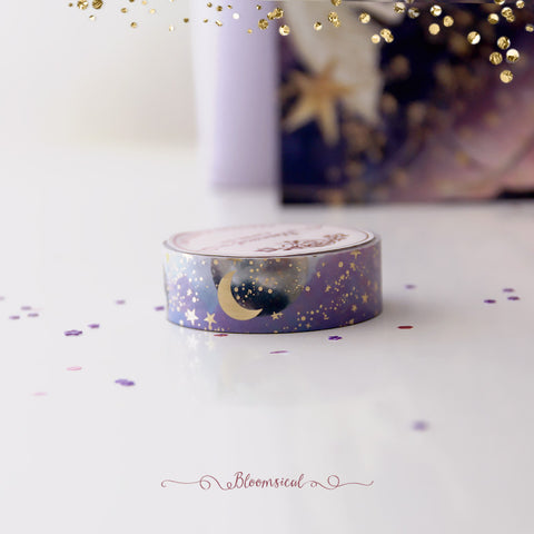 Purple Sky 15mm Exclusive Reach for the Stars Washi Tape Restock