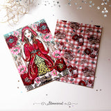 Red Riding Hood Journaling Card Silver Holo Foil