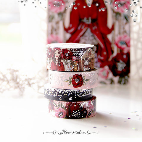 Red Riding Hood Washi Tape Collection Silver Foil