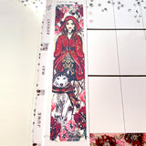 Red Riding Hood Sidebar Sticker  - Silver Foil Accents