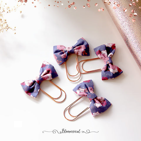 Floral Bow Paper Clip Planner Accessories - Limited Christmas Present Edition (slightly OOPS)