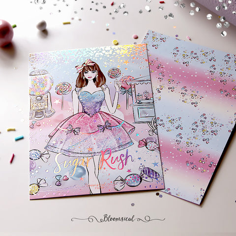 Sugar Rush V2 Journaling Card with Holographic Foil Accents