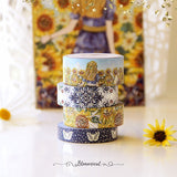 Sunflowers Washi Tape Collection Light Gold Foil