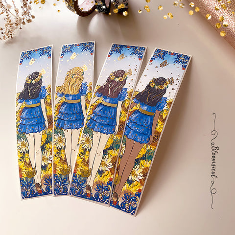 Sunflowers Sidebar Sticker  - Gold Foil Accents