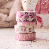 Sweet Romance Washi Tape Collection Warm Gold Foil - Restocked