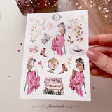 Wanderlust Mini Deco Sticker Sheet Gold Foil Accents