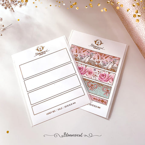 Foiled Washi Collection Swatch Sticker Template | Washi Tape NOT included