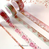 Woodland Dawn V2 Washi Tape Collection Rose Gold Foil