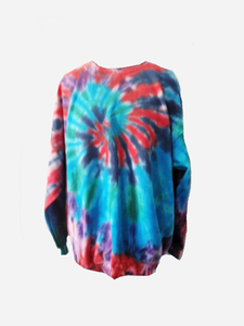 Men's Crew sweater/ Big Blue Swirl