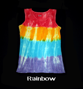 Women's tie dye Tank Top/ Rainbow popsicle