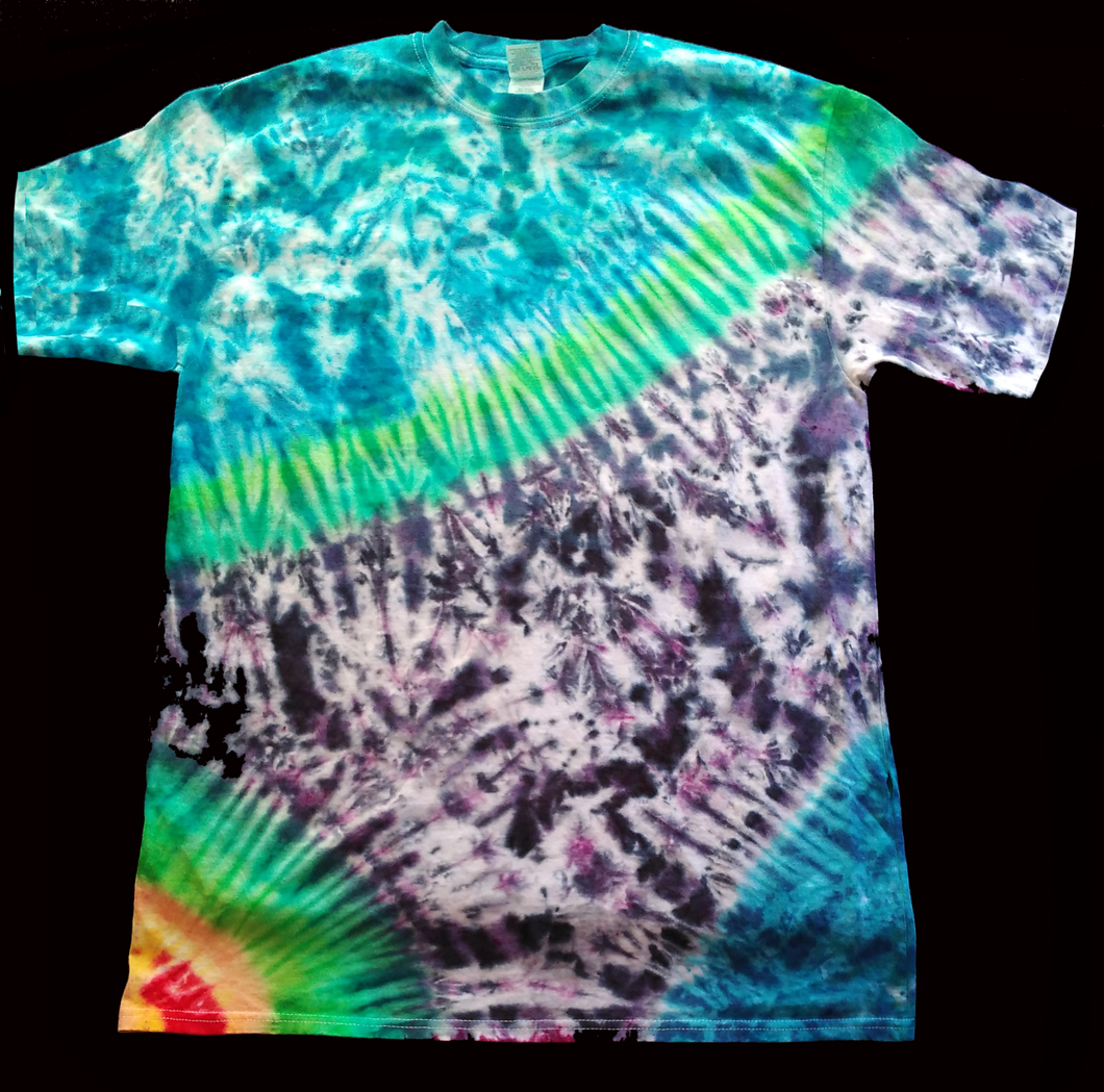 Men's Tie dye Short-Sleeve shirt/ Mindbender