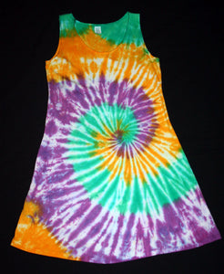 Women's Tie dye Short tank sleeve Dress