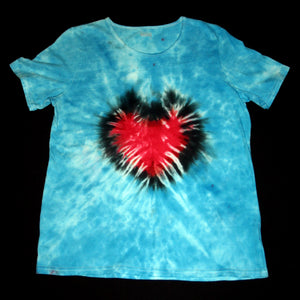 Women's short sleeve top/Black heart