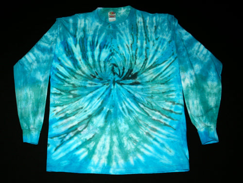 Blue Awakening Tie dye long sleeve Shirt