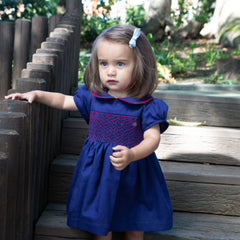 Sue Hill Darcy hand smocked dress