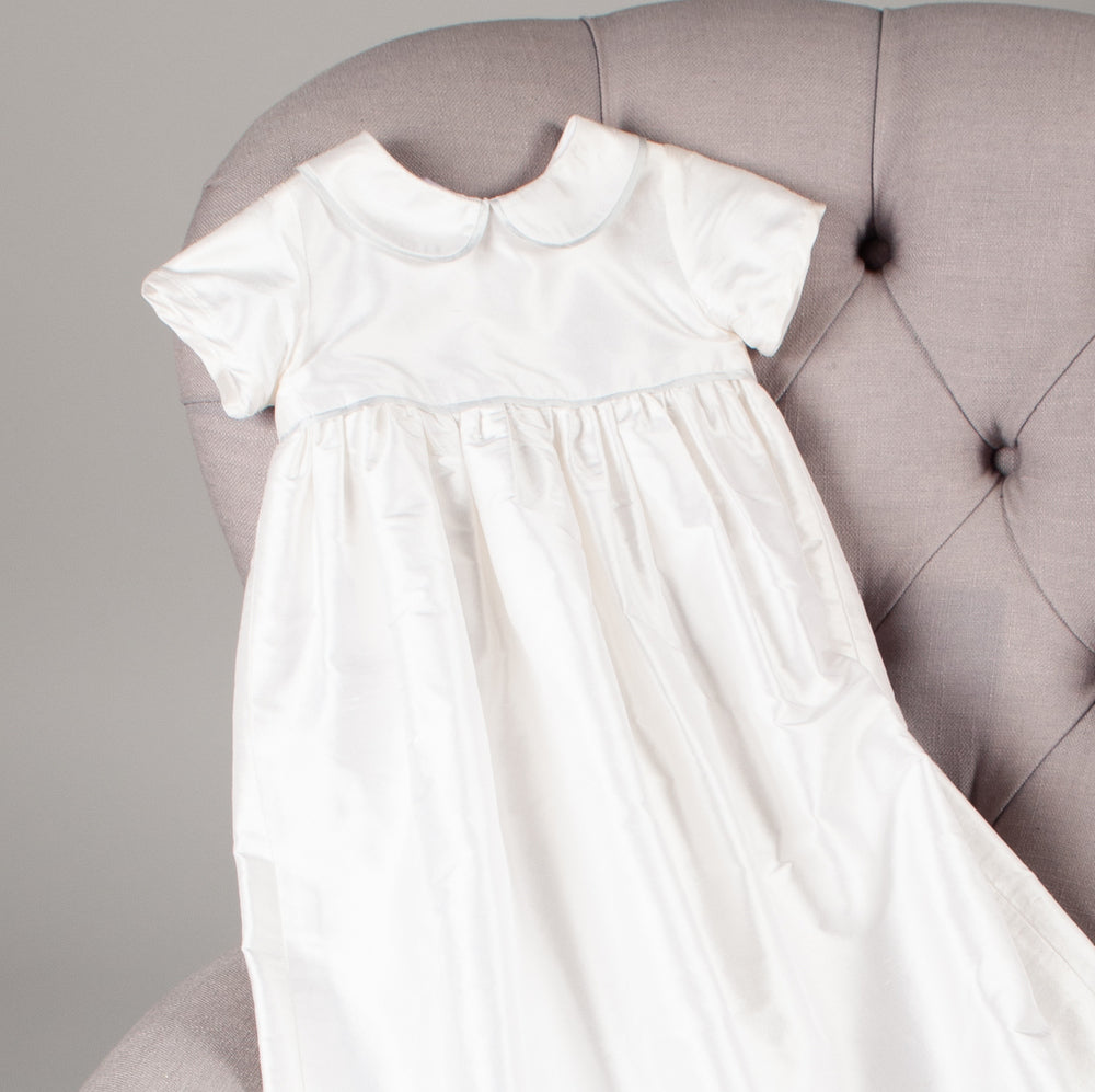 Marlborough Silk Heirloom Christening Gown