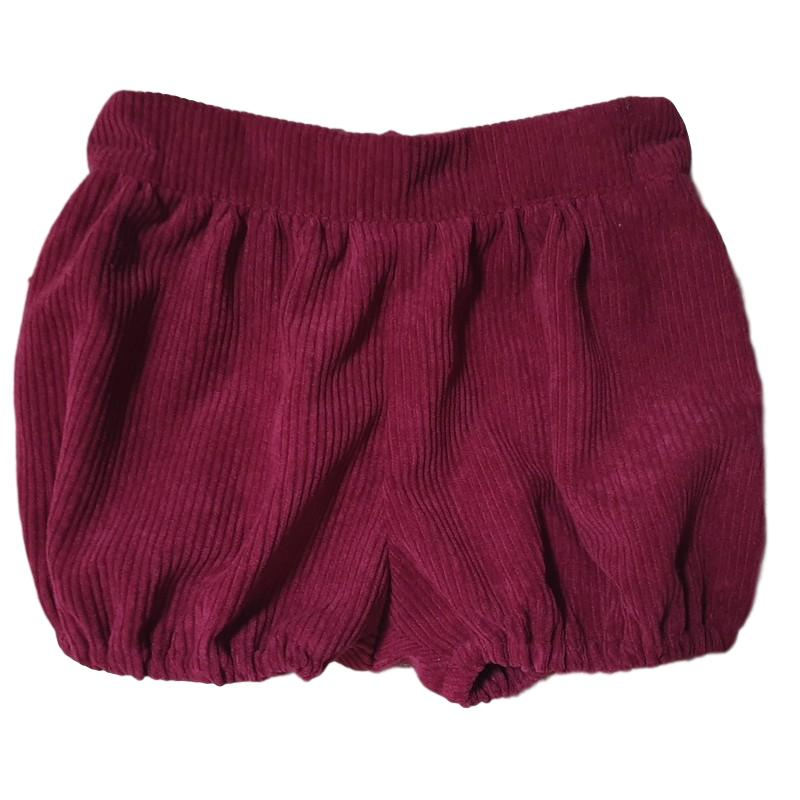 Corduroy Puff Pants Burgundy 18-24m - 50% off