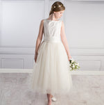 Sue Hill silk tulle flower girl junior bridesmaid communion dress Ava
