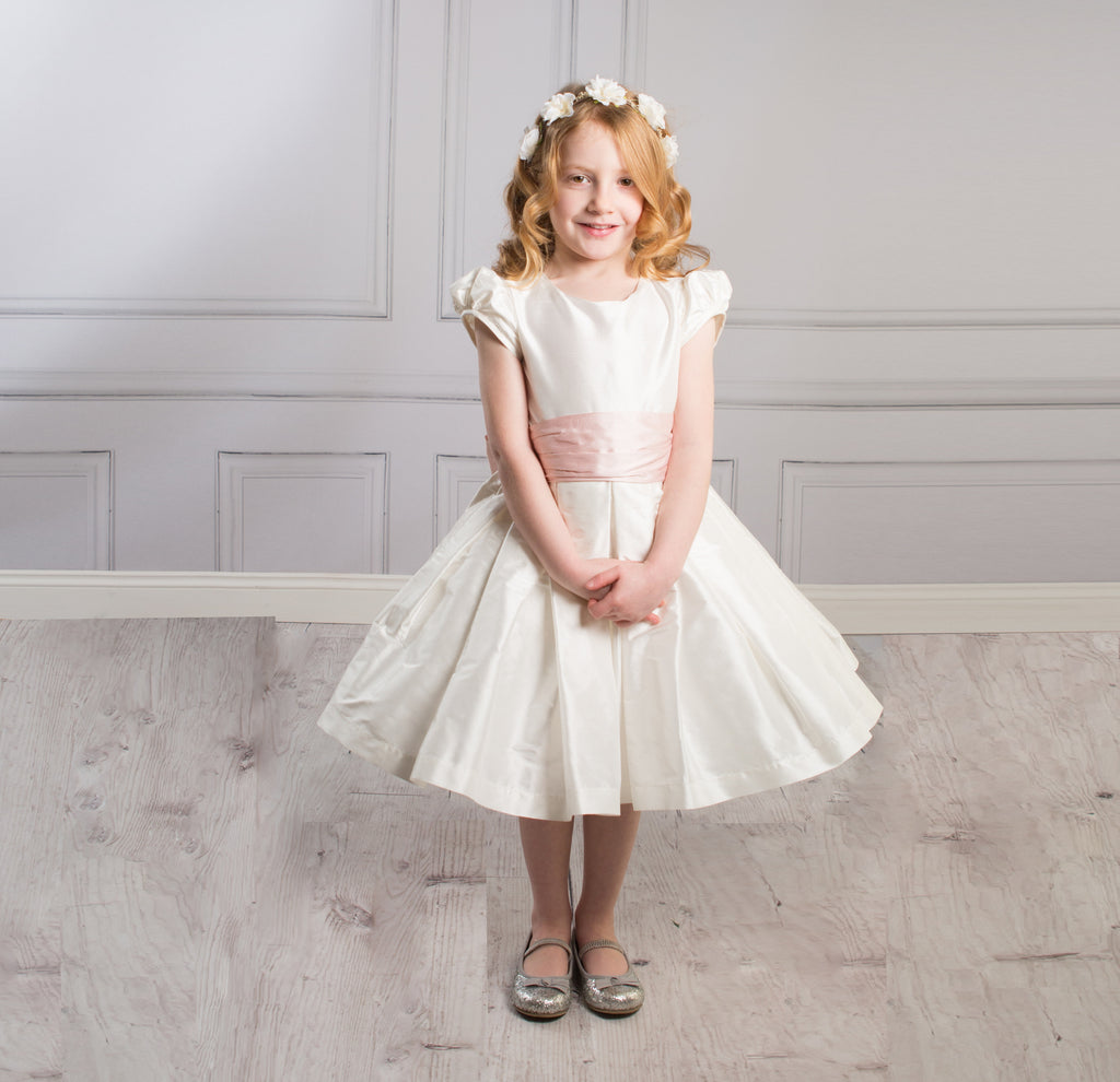 Sue Hill silk flower girl communion dress - Charlotte