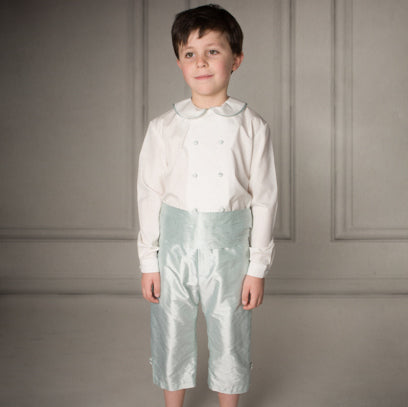 George Cotton/Silk Page Boy Shorts Outfit