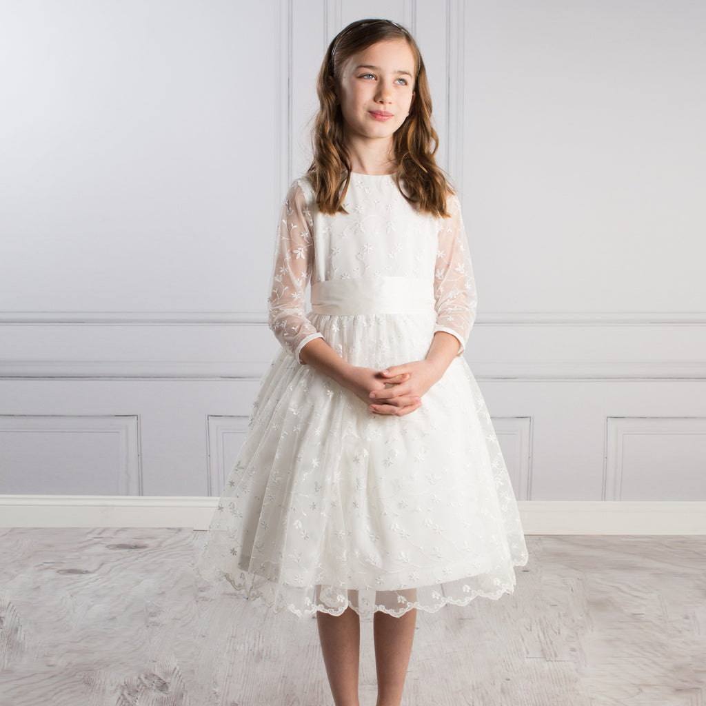 Sue Hill Belle Lace communion dress