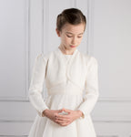 Sue Hill girls wedding communion bolero shrug