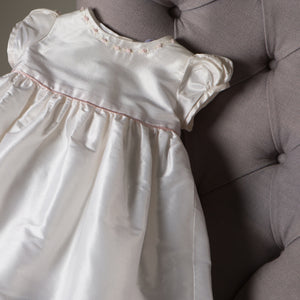 Sue Hill girls silk christening gown Emily