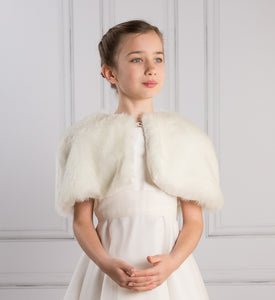 Faux Fur Wedding Cape