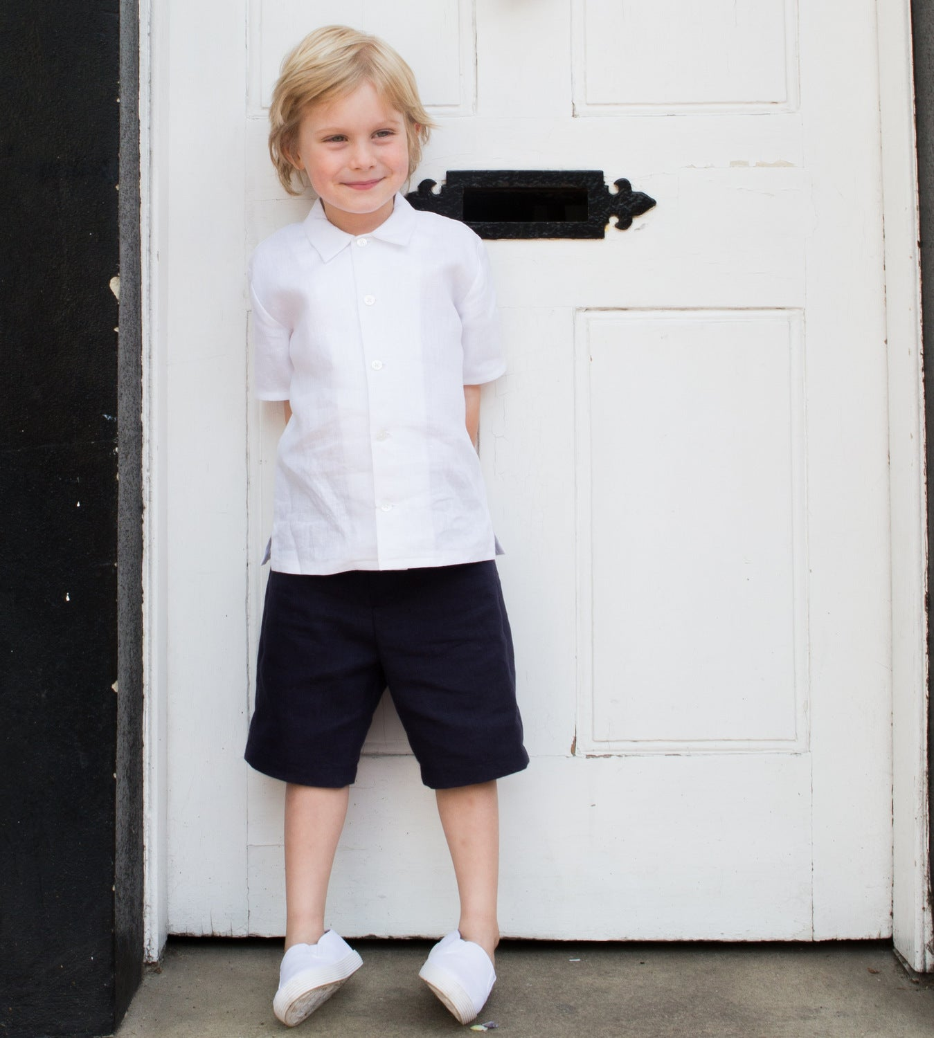 Sue hill linen page boys shorts
