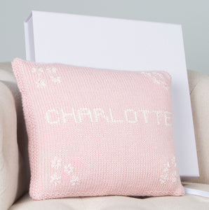 Girl's Personalised Cushion Pink
