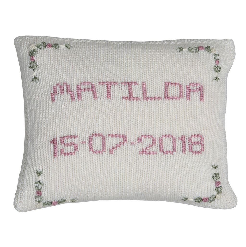 Sue hill girls personalised cushion